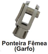 Ponteira Femea (Garfo) para Mini Cilindro 8mm de Diâmetro